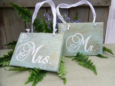 Mr. & Mrs. Chair signs. Then hang in bedroom as decor
