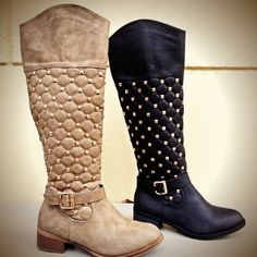Quilted Studded Boots