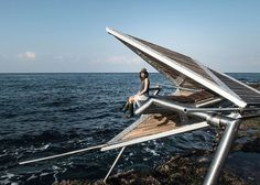 These conceptual three-legged structures have been developed to allow Beirut's fishing community to reclaim sections of the coastline whilst generating electricity for local residents