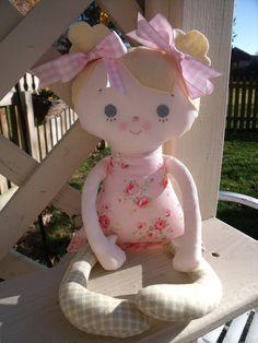 My friend Mary Jo--a handmade cloth doll.