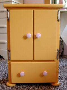 Doll Armoire Dresser Closet For American Girl Doll Or 18 Inch Dolls.  $140.00,