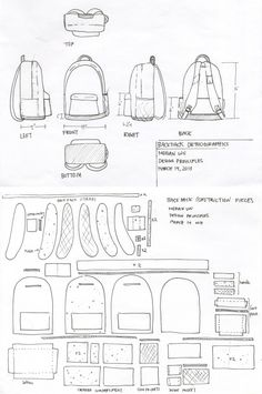 Soft Goods Re-Design (Tourist Backpack) by Megan Wu, via Behance