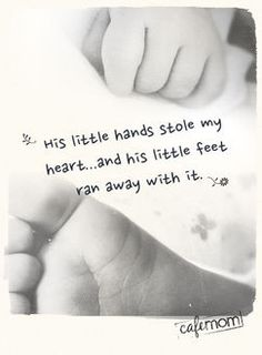 Cute quote with hand and foot photo