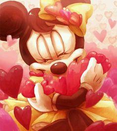 Minnie e os corações