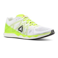 Reebok Mens Floatride Run Fast Pro Running Shoes Trainers Sneakers Green  White  4d9c33f7e