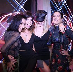 Fran Monfrinatti, Fê Paes Leme, Julia Faria e Mariah Bernardes no evento de inauguração do AMARO Guide Shop Oscar Freire.