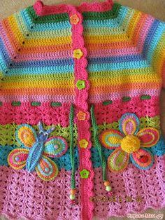 - Knitting and crochet - Boho Crochet Patterns, Crochet Baby Sweater Pattern, Crochet Baby Sweaters, Baby Sweater Patterns, Crochet Coat, Crochet Baby Clothes, Crochet Jacket, Crochet Cardigan, Baby Knitting Patterns
