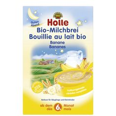 Holle Organic Milk Cereal with Bananas 250g 6 Months