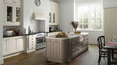 Wood Shaker Painted Ivory & Hickory | Sheraton Shaker | Inspiration | Atlantis Kitchens