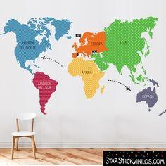 vinilo mapamundi continentes tonos naranja more information more information world map