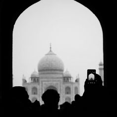 The Taj Mahal in black and white. Agra, India. Photo by Andrea Rees.