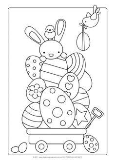 Easter craft ideas for kids - Simply Sweet Soirees blog - colouring in by Style Me Gorgeous