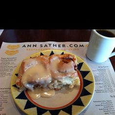 Ann Sather in Chicago, IL   the most amazing cinnamon rolls out there. Rich, melt in your mouth deliciousness.