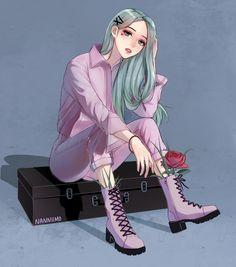 Check out Mamamoo @ Iomoio Cool Anime Girl, Pretty Anime Girl, Beautiful Anime Girl, Anime Art Girl, Chibi, Cartoon Kunst, Cartoon Art, Kpop Fanart, Arte Copic