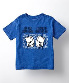 Royal Blue 'That Was Sodium Funny' Tee - Toddler & Kids