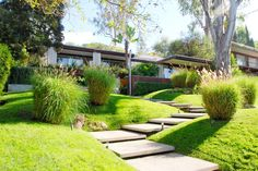 Pad naast de haag - naar moestuin Ohara House 1, Neutra Colony. 1961. Los Angeles, California. Richard Neutra.