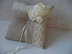 WEDDING+RING+PILLOW+/+CUSHION+-+LINEN+ECO+from+Cherkio's+Design+by+DaWanda.com