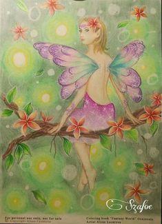 "Colorist Éva Szabóné Fodor  Grayscale Coloring book ""Fantasy World"" by Alena Lazareva. Available on Amazon http://www.amazon.com/dp/154518769X #alenalazareva #coloring #colouring #book #coloringbook #coloringbookforadult #adultcoloring #colorist #adultcoloringbook #colouringbook #grayscalecolouring"