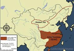 southern-song-map1 This map shows the land of the Southern Song Dynasty (1127…