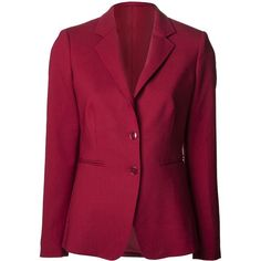 MAX MARA blazer jacket ($474) ❤ liked on Polyvore featuring outerwear, jackets, blazers, blazer, straight jacket, purple straight jacket, long sleeve jacket, long sleeve blazer and wool blend jacket