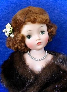"""GORGEOUS VINTAGE 1950's RED HAIRED """"CISSY"""" DOLL & TAG. DRESS BY MADAME ALEXANDER"""