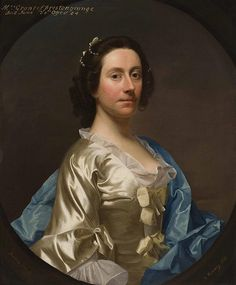 ALLAN RAMSAY (SCOTTISH 1713-1784) HALF LENGTH PORTRAIT OF LADY GRIZELL PRESTONGRANGE 75cm x 62cm (29.5in x 24.5in)