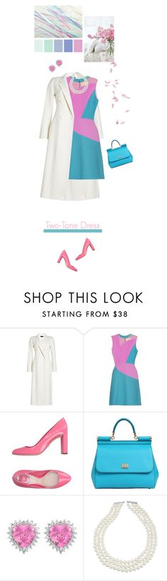 """""""Two-Tone Dress"""" by stavrolga ❤ liked on Polyvore featuring Joseph, Roksanda, Christian Dior, Dolce&Gabbana, pastel, polyvoreeditorial and twotonedress"""