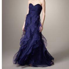 Badgley Mischka gown.