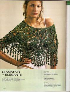 Chal con Flecos Guirnaldas Patron - Patrones Crochet