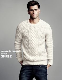 Jersey blanco de ochos H&M