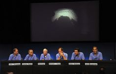 Curiosity mission managers, flight controllers, scientists and administrators speak at a press conference after the Rover successfully landed on the surface of the Red Planet