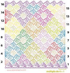 Cómo tejer el punto rombos en crochet (paso a paso)