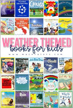 Weather Books for Kids Mindful Parenting, Parenting Books, Play Based Learning, Kids Learning, Infant Activities, Learning Activities, Little Boy Names, Preschool Books, Preschool Themes