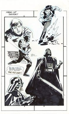 """aapstra: """"Star Wars by Bruce Timm. """""""