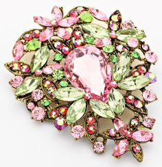 """""""Crystal Bouquet"""" Pin Brooch http://www.pinkmeadow.com/view.php?serialnumber=6143 Pink Meadow"""