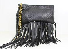 Murka Handcrafted Hand Made Quilted black Genuine leather shoulder bag