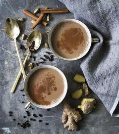 Spicy Masala Chai with Almondmilk and cinnamon