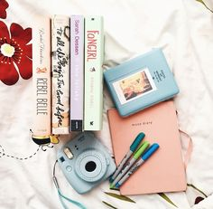 books + pastels