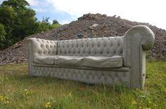 Concrete Chesterfield Sofa: UK-based Gray Concrete created this concrete Chesterfield sofa