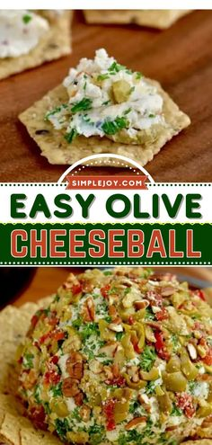 This crowd-pleasing appetizer recipe is perfect for game day! Full of delicious flavors plus a little kick, this classic cheeseball with olives are so good. Enjoy watching football with this super easy tailgate food or homegating recipe! Holiday Appetizers, Yummy Appetizers, Appetizer Recipes, Cheese Ball Recipes, Cream Cheese Recipes, Easy Tailgate Food, Game Day Food, Roasted Garlic, Finger Foods