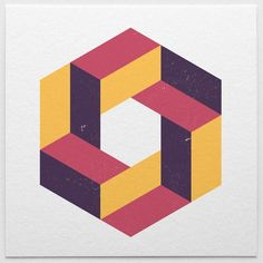 Made with isometric: pattern, illusion, colour Isometric Shapes, Isometric Drawing, Isometric Design, Logo Inspiration, Impossible Shapes, Geometric 3d, Photo Images, Math Art, Geometry Art