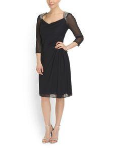 Short Sheer Cocktail Dress