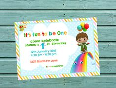 Baby tv//Charlie and the Numbers Invitation ( PNG,JPEG) by CraftShopLK on Etsy