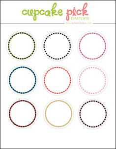 cupcake topper template tutorial birthday party ideas pinterest