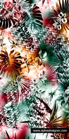 Walter Spina | Estampa do TCC da Pós-Graduação em Criação de Estampas da FACAMP - 2014 | #print #pattern #textile #design #floral #summer