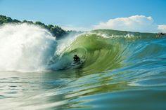 Parker Coffin, Balaram Stack, Noah Schweizer and Imai Devault turn the corner in Indo: http://volcomindo.surfline.com