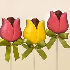 Godiva Tulip Lollipops