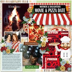 Value Pack: Pizza Mia Girl Thinking, Eat Pizza, Digital Scrapbooking Layouts, The Book, Things To Think About