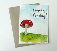 Hand Drawn Birthday Card by EvelynX on Etsy, $7.00