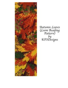 free loom bead pattern for leaves - Google Search